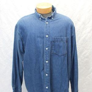West Marine  Denim Shirt Size XL